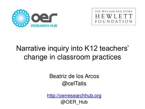 Oerrhub  Narrative Inquiry Into K12 Teachers' Change In Classroom Pr…