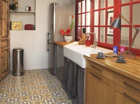 carrelage ancien cuisine maison deco