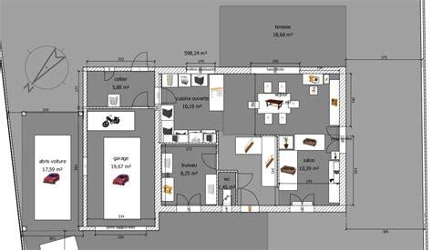 plans de cuisine ouverte avis sur plan maison rdc 1 107m2 hors cellier 16