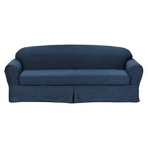 Blue Denim Loveseat by All Cotton Blue Denim 2 Sofa Loveseat Slipcover Cove