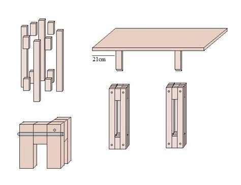 bauanleitung tisch mit bauplan