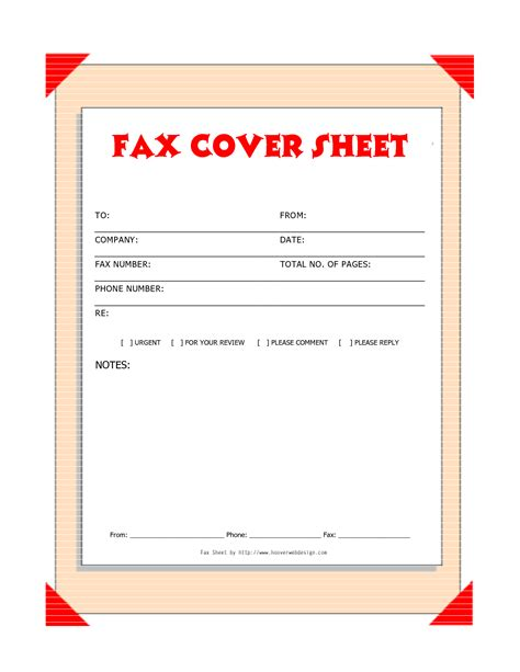 downloads fax covers sheets  printable fax