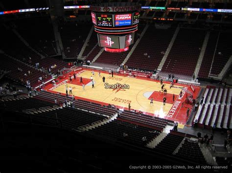 toyota center section  houston rockets