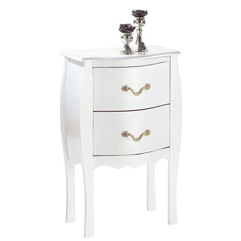 table de chevet baroque blanche 2 tiroirs louisa achat vente chevet table de chevet baroque