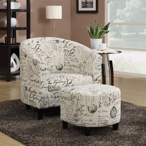 script chair and ottoman coaster accent seating two accent chair and ottoman