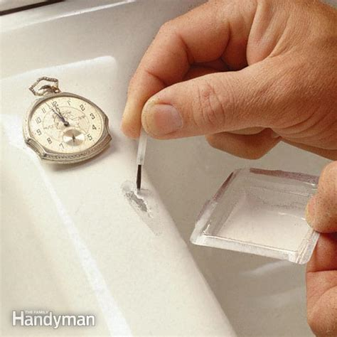 how to repair a cracked sink how to fix a chipped sink the family handyman