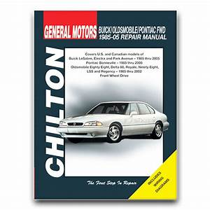Oldsmobile 98 Chilton Repair Manual Regency Elite Brougham