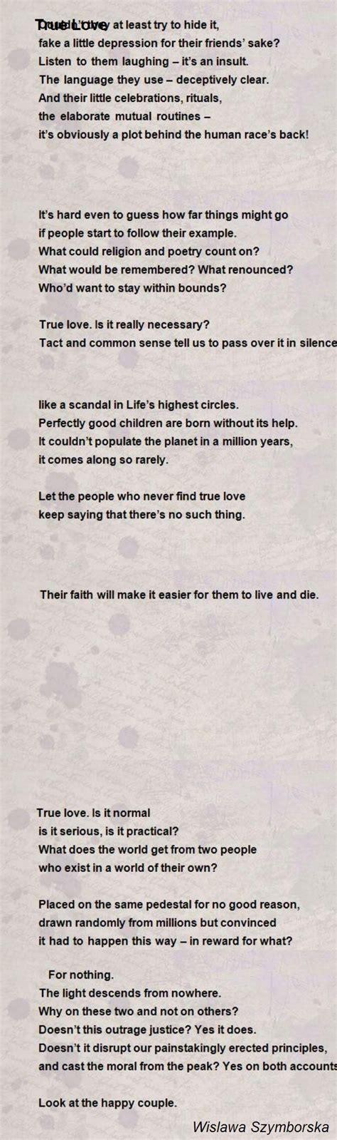 true poem by wislawa szymborska poem comments
