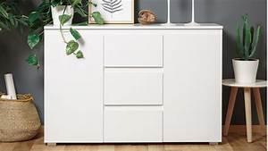 Sideboard 120 Cm Breit : sideboard blanc 4 grifflose kommode in wei 120 cm breit ~ Bigdaddyawards.com Haus und Dekorationen