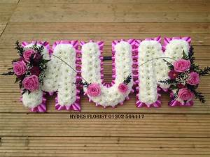 funeral letters hydes florist With letter wreaths for funerals