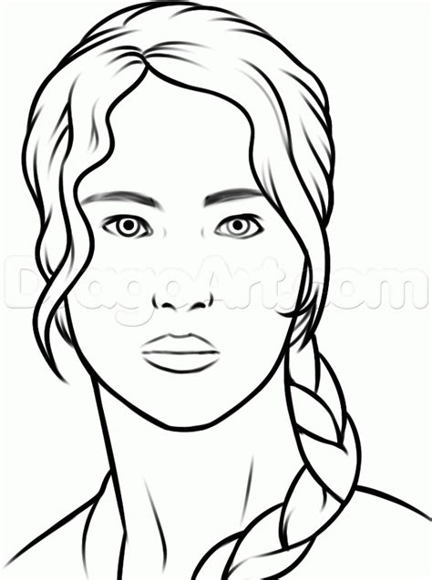 draw katniss easy step  step characters pop