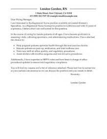 cover letter for nursing resume registered cover letter sle my cover letter