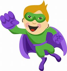 Kids with Superheroes Costumes Clip Art - Oh My Fiesta