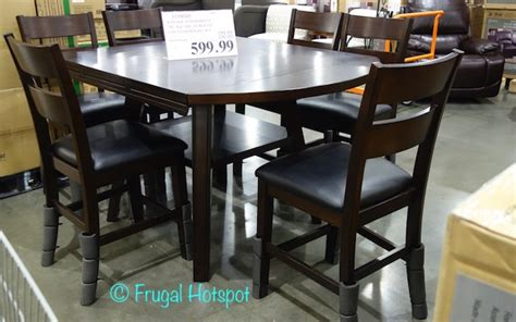 costco dining table in store costco sale bayside furnishings 7 pc square to round