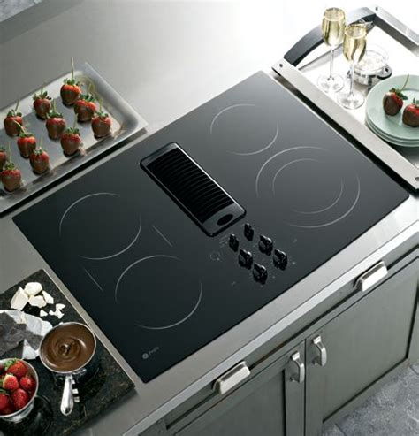 ge electric cooktop reviews for pp989dnbb ge profile 30 quot downdraft electric