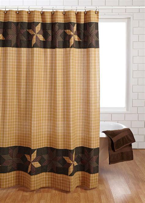 amherst shower curtain primitive blackgoldbrowntan star