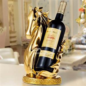 Luxury, Gold, Silver, White, Resin, Carved, Single, Wine, Bottle, Holder, Unique