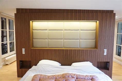 le bureau enghien les bains agencement tête de lit intégrant rangements et dressing