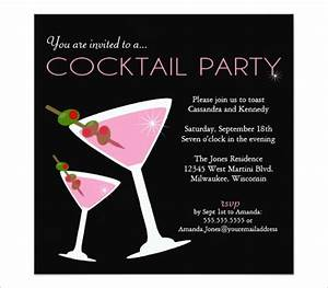 19 stunning cocktail party invitation templates designs for Cocktail party invite template