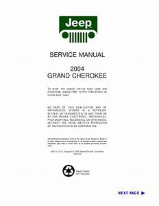 2004 Jeep Grand Cherokee Service Repair Manual