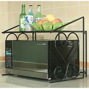 Microwave Oven Rack Kitchen Organizer Counter Cabinet