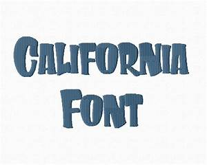 california chunky machine embroidery font With chunky letters