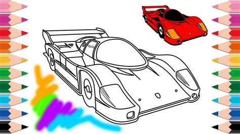 draw super cars racing cars coloring pages learn