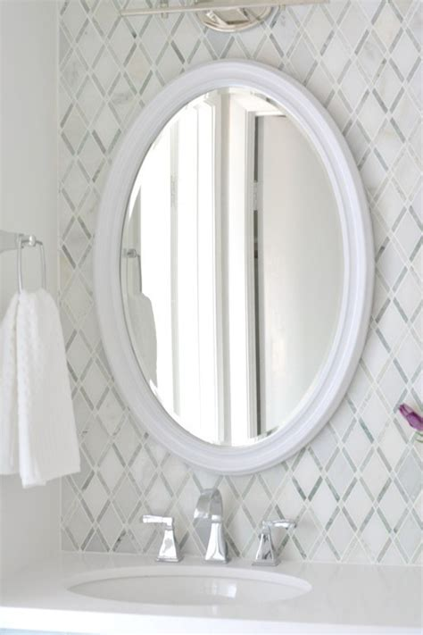 Oval Vanity Mirrors For Bathroom by Master Bathroom Vanity Makeover Centsational Style