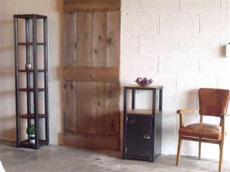 petit meuble d entr 233 e bois m 233 tal au design industriel meuble de style industriel bois et acier