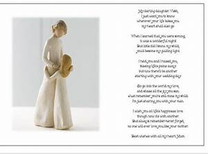 personalised wedding day poem gift from mother of bride With wedding gift from mother to daughter