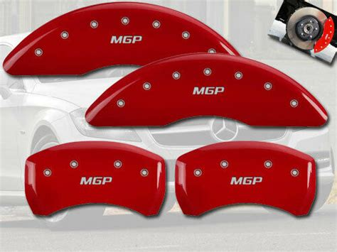 "Quality is at the heart of everything we do at carid, so whatever your project, our brand name products and qualified experts will ensure success. 2015-2020 Mercedes Benz C300 Front + Rear Red ""MGP"" Brake Disc Caliper Covers 4p 