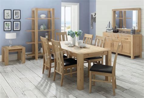 lyon washed oak end extension dining table 6 or 8