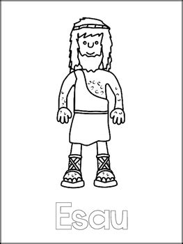 jacob and esau printable color sheets preschool bible 601 | original 2388652 2
