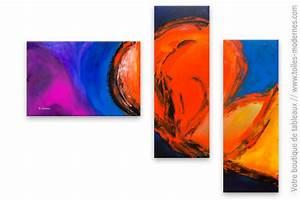 Tableau Moderne Coloré : tableau xxl moderne color fusion ~ Teatrodelosmanantiales.com Idées de Décoration