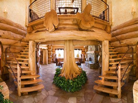 luxury log cabin home luxury mountain log homes cool log homes treesranchcom
