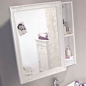 Spiegelschrank Mit Schiebetür : wei lackierter spiegelschrank mit schiebet r schrank m bel bad vintage ~ Markanthonyermac.com Haus und Dekorationen