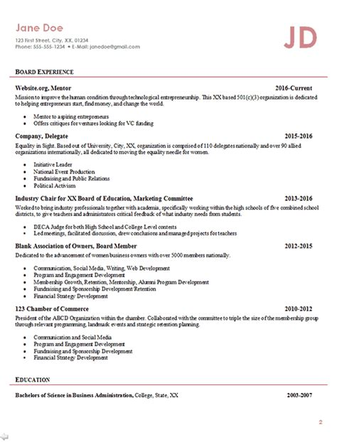 entrepreneur resume exle business owner founder