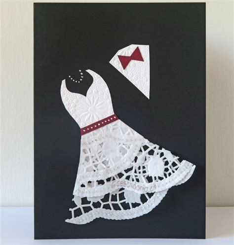 doily wedding card basteln und mehr karte hochzeit