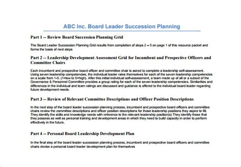 succession planning template proposal letter