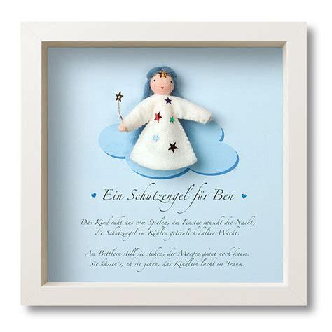 kleines geschenk zur taufe taufgeschenk schutzengelrahmen in blau mein liebstes im rahmen geschenke verpackung
