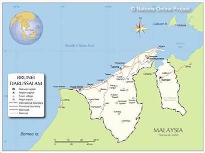 Brunei Map Mapa Maps Countries Asia Political