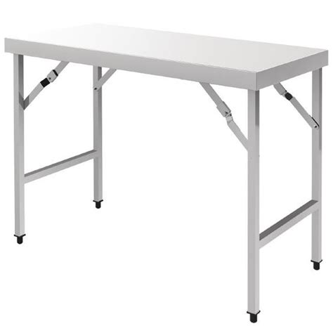 table de professionnelle pliante table pliante en inox vogue 1200 ou 1800 mm