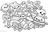 Coloring Pages Printable Snacks Many Kawaii Adults Inspiration Albanysinsanity Bettercoloring sketch template