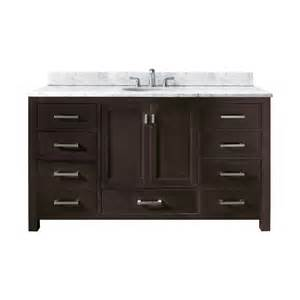 60 inch single sink bathroom vanity with choice of top uvacmoderov60esa60