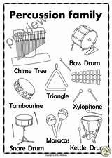 Percussion Instruments Visit Drum sketch template