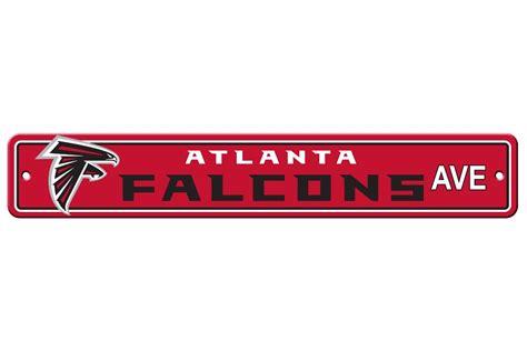 atlanta falcons nfl team name logo plastic street sign