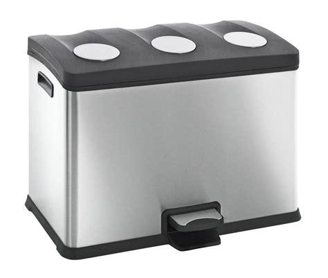 poubelles de cuisine corbeille poubelle de cuisine à tri sélectif 3x12 litres