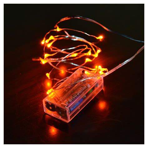 mini micro battery powered led string light copper wire