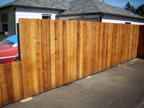dog ear fence with sikken s cedar stain dog ear cedar