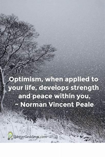 Optimism Strength Quotes Norman Peale Vincent Peace